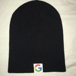 Other - Black Cotton Knit Beanie Hat